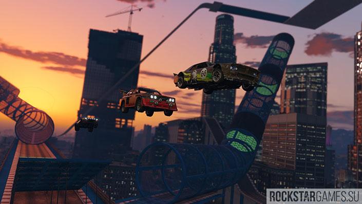 Модифицированная версия Tampa в GTA Online: Лихачи и трюкачи
