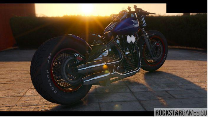 Harley-Davidson Knucklehead Bobber для ГТА 5