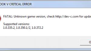Script Hook V Critical Error в GTA 5