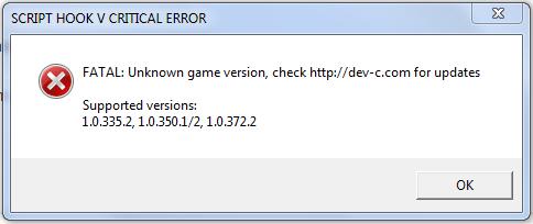 Как исправить ошибку Script Hook V Critical Error в GTA 5?