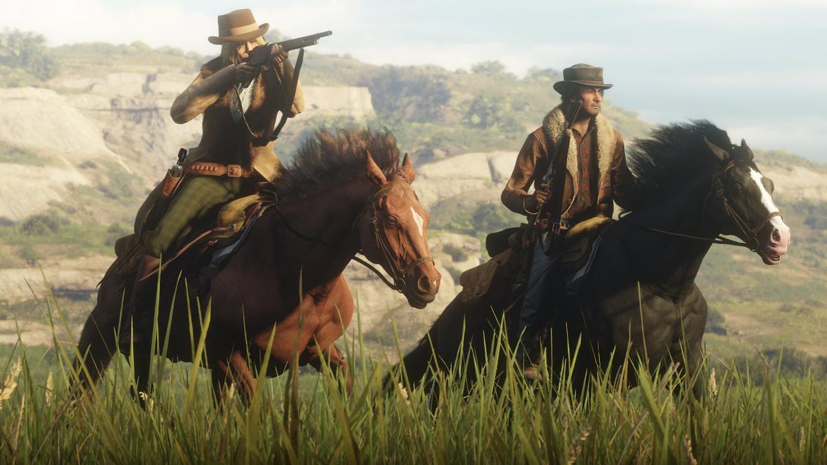 стрелять верхом на лошади в red dead redemption 2