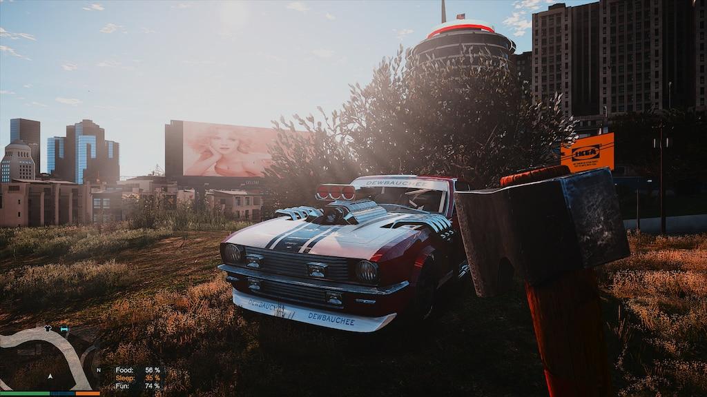 машина в кустах