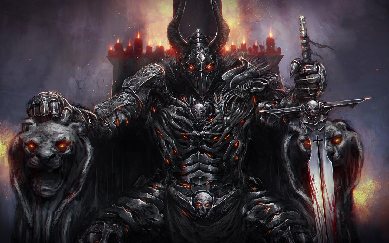 демон на троне