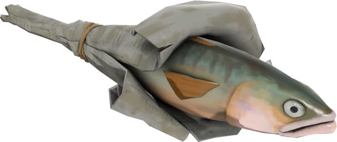 рыба в бумаге