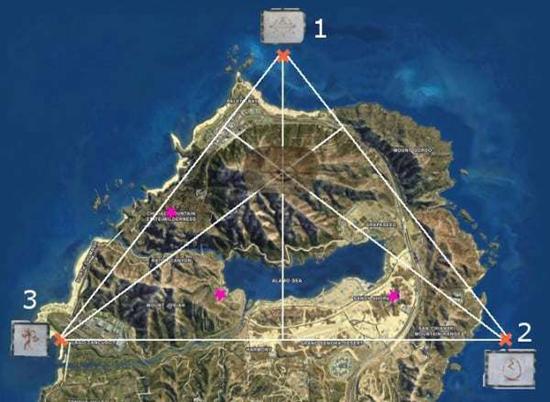 треугольник на карте