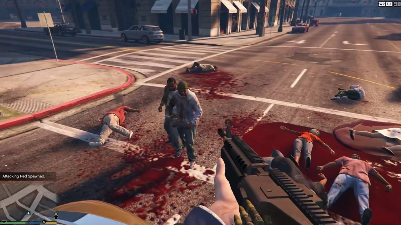 нападение на зомби