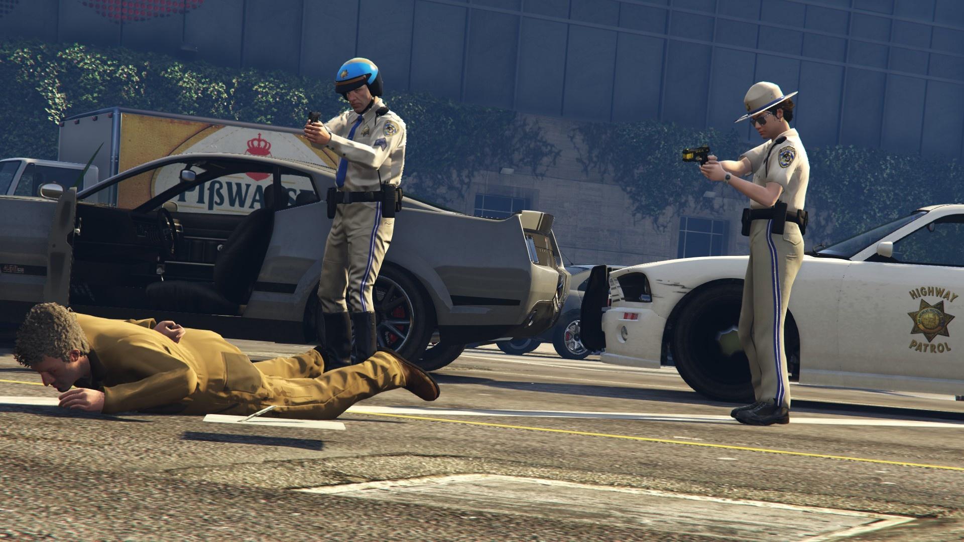 патрульные на дороге