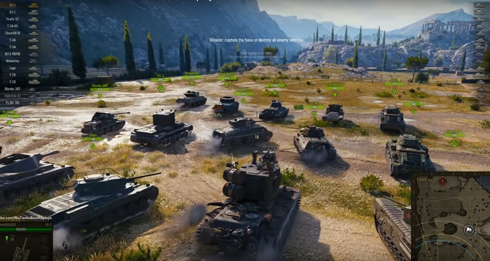 полк танков