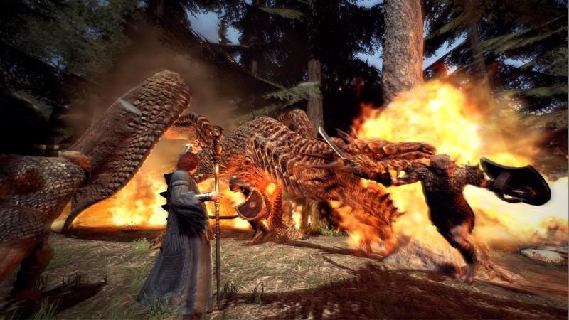 дракон с огнем