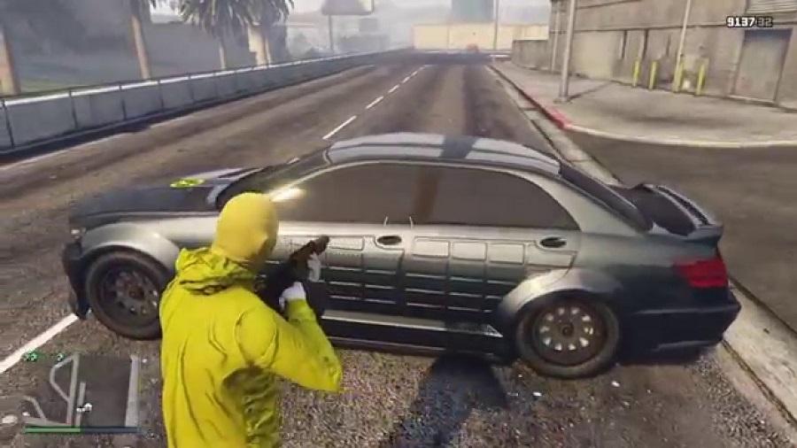 обстрел машины