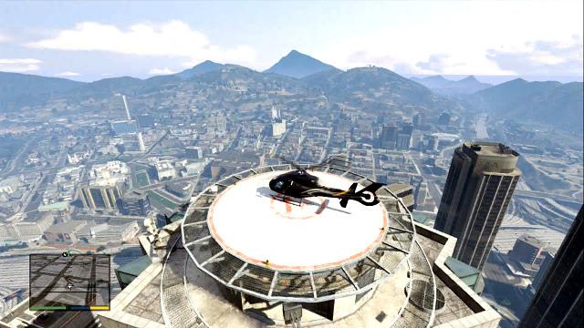 вертолет на крыши
