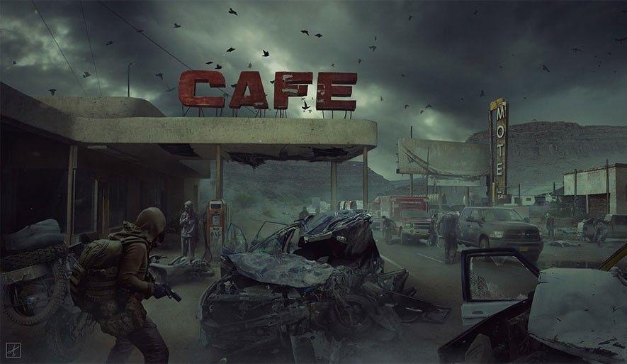 зайти в кафе