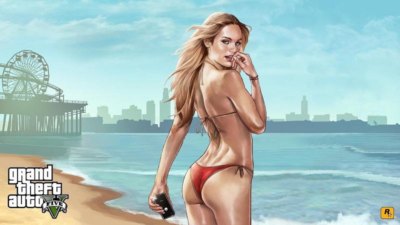 девушка с пляжа