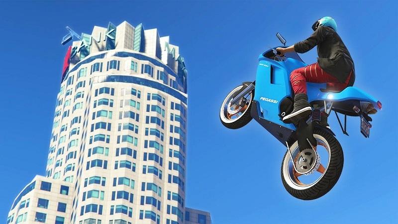 лететь на мотоцикле