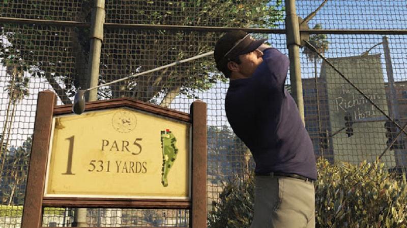 игра в гольф