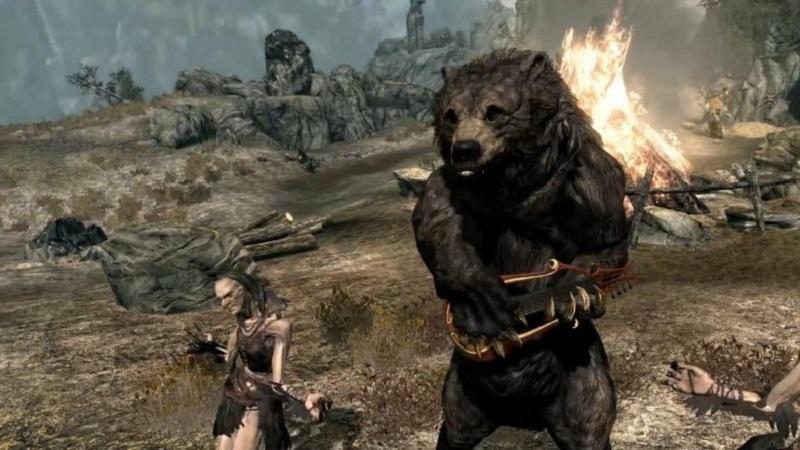 медведь с кикиморой