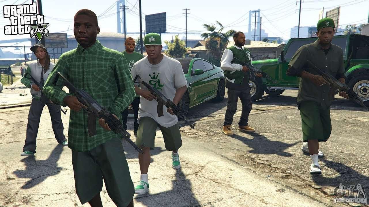 банда в зелёном