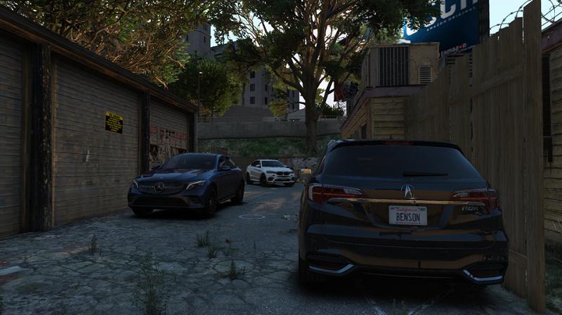 парковка у гаражей