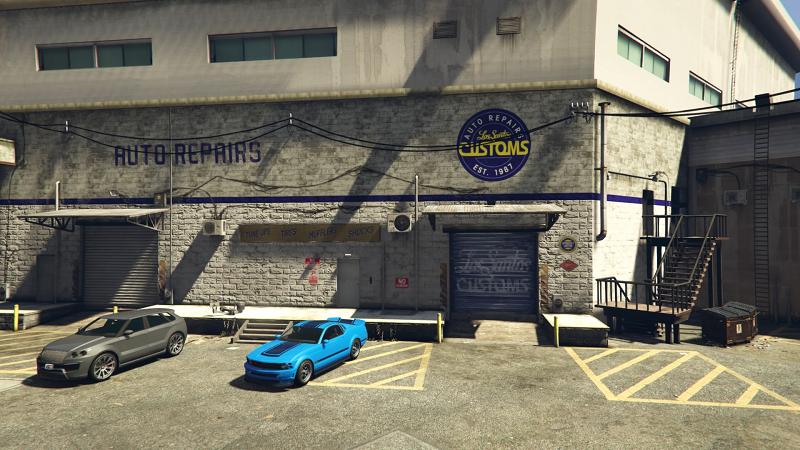 парковка у гаража