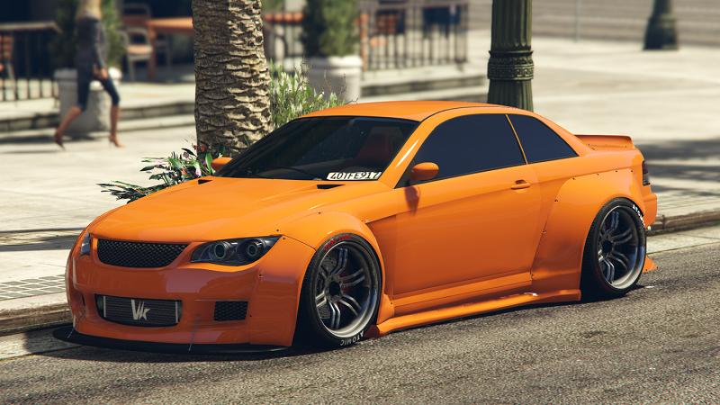машина оранжевая