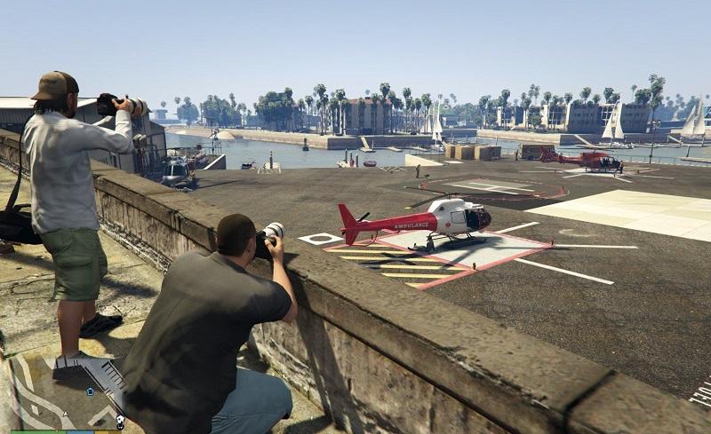 стоянка вертолетов