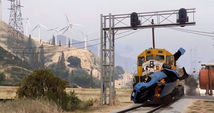 едет поезд